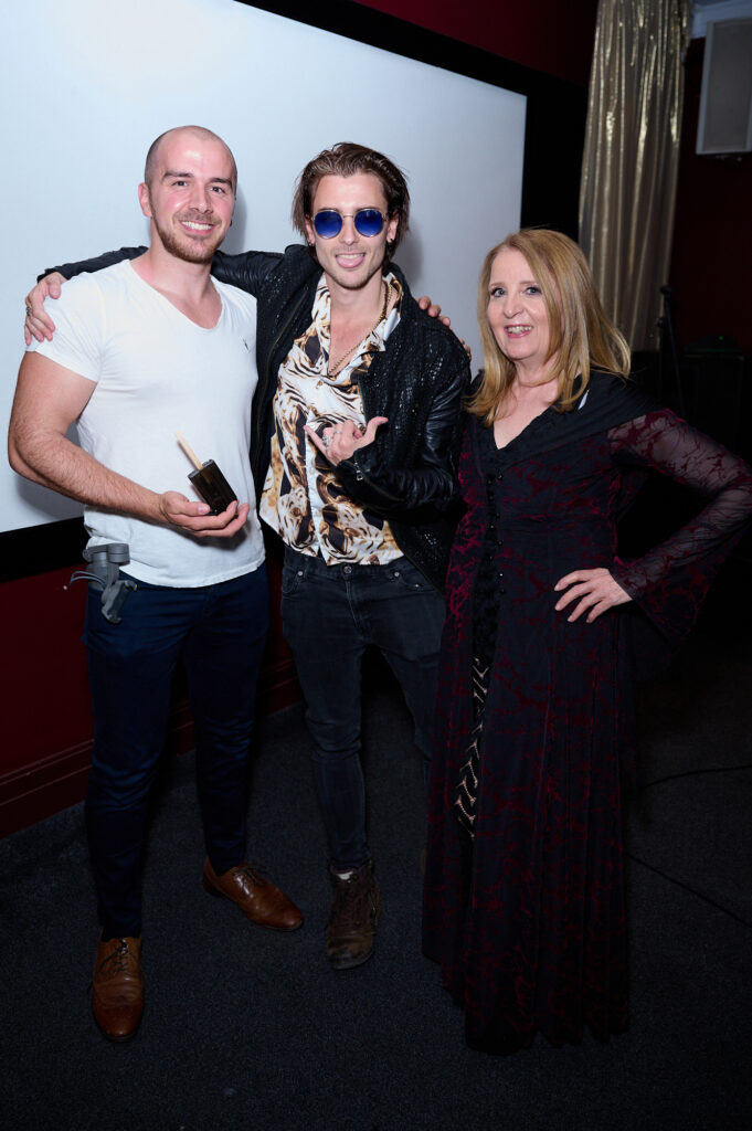 Tyler Winchcombe accepts The Best Costume Award judged by Gillian McKeith © Alan West